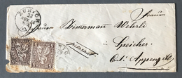 Suisse N°35 (x2) Sur Lettre De Zurich 1865 - (B1948) - Briefe U. Dokumente