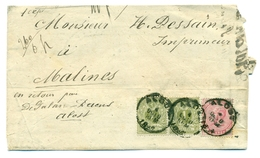Belgique - COB 38 Et 42 En Paire Sur Imprimé Alost 1884 - 1883 Leopold II.
