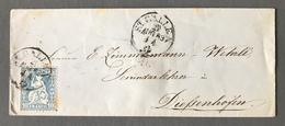 Suisse N°36 Sur Lettre De St Galien 1863 - (B1949) - Briefe U. Dokumente