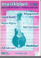 Revue De Musique -  Musikblatt N° 1 - 1990  - Linard Bardill - Musique