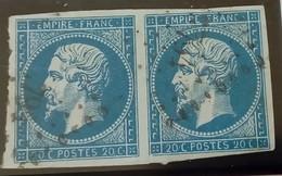 318- 14A- Paire- PC 794 Chateauneuf Val De Bargis Nièvre 56 - 1853-1860 Napoleon III
