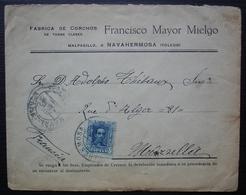 Espagne 1928 Toledo Francisco Mayor Mielgo Fabrica De Corchos De Todas Classes - 1889-1931 Royaume: Alphonse XIII