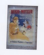 AFFICHE ANCIENNE  ENTOILEE LITHO De CHERET Jules  BENZO MOTEUR  Signée Datée  1900 * Condition A -   87,6 X 123,2 Cm - Lithografieën