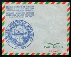 EXPEDITIONS POLAIRES FRANCO SOVIETIQUE / 1963  ENVELOPPE AVION VIERGE (ref 8056) - Terres Australes Et Antarctiques Françaises (TAAF)