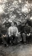 Photo Originale Guerre 1939/45 - Portrait D'un Groupe D'Hommes En 1940 Avec Albert Brieu Ancien Soldat De La 1914/18 - Guerra, Militari