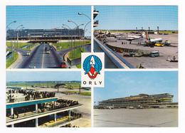 75 Aéroport De Paris Orly N197 Aérogare Aire Stationnement Avions Air France VW Combi Lufthansa ? Citroën 2CV Renault 4L - Aéroports De Paris