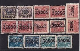 # Z.11015 Poland 1923 Full Set Overptint (x), Used, Michel 185 - 88: Harvester - 1919-1939 République