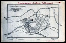 CPA ANCIENNE- FRANCE- SUPERBOLQUERE (66)- PLAN DU LOTISSEMENT DES CHALETS CONSTRUITS DE 1913 A 1920 - Francia