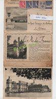 CARTE LETTRE DE 1939 - LE PALAIS DE VERSAILLES - PIERREFONDS LE CHATEAU - LE CHATEAU DE CHANTILLY - Biglietto Postale