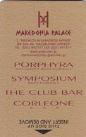 GREECE Hotel Keycard - MAKEDONIA Palace Thessaloniki,used - Hotelsleutels (kaarten)