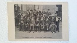 CPA -  St Germaint Le Guillaume - Fête 1913 - Le Progrès Germanais - Photo Des Musiciens De Saint Germain En Bon Etat. - Autres Communes