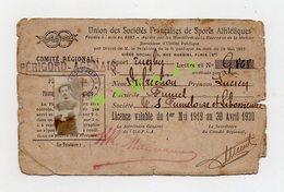 LICENCE DE 1919 - RUGBY - COMITE PERIGORD AGENAIS - FUMEL - Rugby