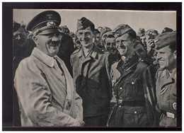 DT- Reich (008915) Propagandakarte Freudige Gesichter Rundrum, Der Führer Und Oberste Befehlshaber, Ungebraucht - Alemania