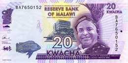 MALAWI Reserve Bank Of Malawi 20 Kwacha 01 Janvier 2014  Série AR 7940691 P.63a - UNC - Malawi