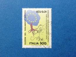 1989 ITALIA ELEZIONI PARLAMENTO EUROPEO FRANCOBOLLO USATO ITALY STAMP USED - 6. 1946-.. Repubblica