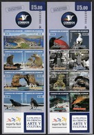 2011 Ecuador Wildlife Of Galapagos Islands: Birds, Marine Life, Reptiles Foils Set (Self Adhesive) - Birds