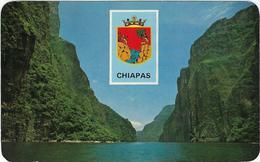 Mexique   Chiapas   Canon  El Sumidero  Y Escudo Del Estado - Mexiko