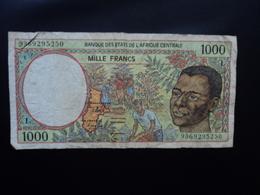 ÉTATS D'AFRIQUE CENTRALE * : 1000 FRANCS    (19)93   P 402LA     TTB - États D'Afrique Centrale