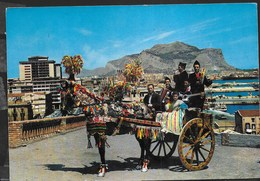SICILIA - CARATTERISTICO CARRETTO - VIAGGIATA 1961 - Italië