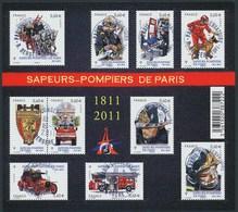 France - Sapeurs-pompiers De Paris / Le Feuillet YT F4582 Obl. Cachet Rond Manuel - Blocs & Feuillets