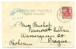 Allemagne -Y&T 54 Oblitération Deutsche Seepost Australische Hauptline 1903 Sur Carte Vue De L'éruption Du Vésuve - Germania