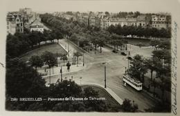 Bruxelles // Carte Photo // Panorama Avenue De Tervueren Avec Tram 19?? - Lanen, Boulevards