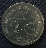 Monnaie Pièce 2 Francs Jean Moulin 1993 Résistant Croix Lorraine - Frankreich