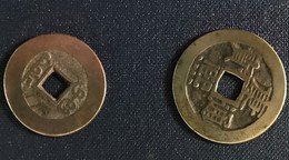 Lot 2 Pièces Monnaie Chinoises Chine Empire Porte Chance - China