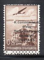 "APR2740  - LUBIANA 1941 , Posta Aerea Sassone N. 1  *  Linguella (2380A) ""R. Commissariato........"" - Lubiana"