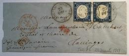 """TORINO SUCCURSALE 2 / 1861"" Lettera > Taninges, Savoie, France (Italia Sardegna Lettre Sardaigne Cover Sardinia - Sardaigne"