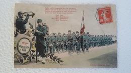 CPA -  19 E Bataillon - Chasseurs à Pied -  Salut, Noble Drapeau ( 1913 ) - Regiments