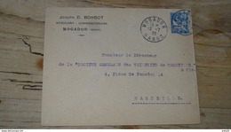 MAROC MOGADOR : Enveloppe 1920 Pour Marseille - Maroc (1891-1956)