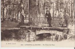 LUXEUIL LES BAINS. CP Un Pont Du Parc - Luxeuil Les Bains