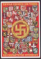 AK Propaganda / EIN VOLK EIN REICH EIN FÜHRER / REICHSPARTEITAG NÜRNBERG  / Geschrieben Von Anacker Heinrich - War 1939-45