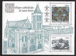 France 2015 Bloc Feuillet N° F4930 Neuf Cathédrale De St Denis à La Faciale + 10% - Sheetlets