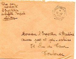 GARONNE / Hte - Dépt N° 31 = St MARTORY 1955 CP N° 8 =  CACHET HEXAGONAL Pointillé G7 + FRANCHISE ECOLE LAFFITTE  TOUPIE - Cachets Manuels