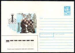 SOVIET UNION 1988 - WORLD CHESS TOURNAMENT FOR CORRESPONDENCE - VILNIUS 1988 - POSTAL STATIONERY - MINT - Scacchi