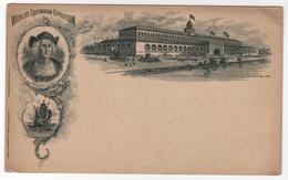 CPA USA : WORLD'S COLUMBIAN EXPOSITION - Chicago 1893 - Christopher Columbus - Précurseur - Santa Maria - Etats-Unis