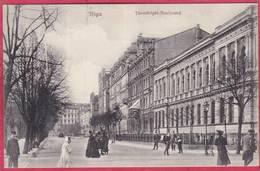 CPA  LETTONIE  Ex RUSSIE  RIGA Thronfolger Boulevard - Latvia