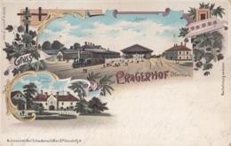 Pragerhof Pragersko Bahnhof Railway Station Train Farblitho 1899 - Slovenia