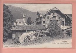OLD POSTCARD - SWITZERLAND - SCHWEIZ - SUISSE -    LAUENEN - HOTEL - SAEGE  1906 - BE Berne