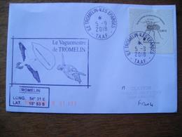 Iles Eparses, Cachet Le Vaguemestre De Tromelin, Tortue Marine, Turtle, Timbre, Myro Jeanneli - Covers & Documents