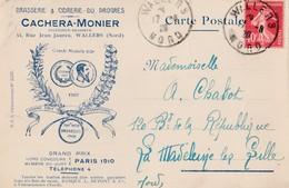 WALLERS  CACHERA MONIER BRASSERIE CIDRERIE DU PROGRES 44 RUE JEAN JAURES  PRIX FIXE - Andere Gemeenten