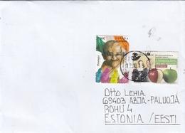 GOOD SPAIN Postal Cover To ESTONIA 2019 - Good Stamped: Apple ; Mahatma Gandhi - 1931-Heute: 2. Rep. - ... Juan Carlos I