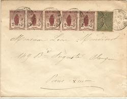 L Avec Orphelin N° 148 X 5 Et N° 130  10/09/1920 - Marcophilie (Lettres)