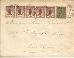 L Avec Orphelin N° 148 X 5 Et N° 130  10/09/1920 - Storia Postale