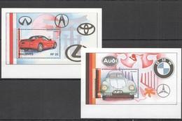 E1004 MALDIVES TRANSPORT CLASSIC CARS THEN & NOW AUTOMOBILES 2BL MNH - Cars