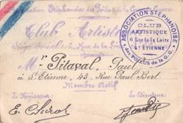 42 - Saint-Étienne - Carte De Membre Du Club Artistique Association Stéphanoise Des Poilus De La G.G - Rare - Cartes
