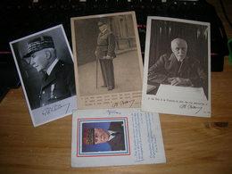 Lot De 3 Carte Postale De Petain 10x15 Et 9x14 + Un Calendrier Regime De Vichy Etat Correct - Hombres Políticos Y Militares