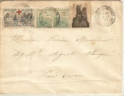 L Avec Orphelin N° 156 Et N° 149 X 2  Obl CàD Villiers Le Morhier (Eure Et Loir) 10/9/1920 - Vignette PAX - Marcophilie (Lettres)